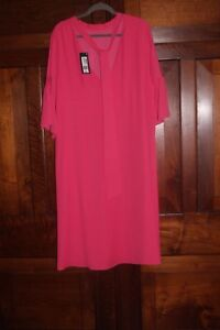 M and S Collection Pink Crepe Tunic Dress Evening Party BNWT UK 20 US 16