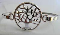 Sterling  Silver  925  Tree  Of  Life   Bangle   Bracelet  !!         New  !!