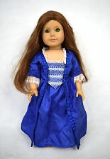 American Girl Doll Felicity Blue Holiday Gown Red Hair Green Eyes
