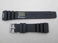 24mm polyurethane PU rubber dive watch band N.D. Limits fits Citizen Aqualand