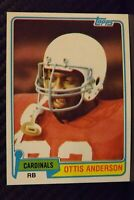 1981 Topps #365 Ottis Anderson ROOKIE St. Louis Cardinals / NY Giants / U Miami