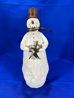 "Flurryville Collection BLIZZARD BOB And His Shining Star 9"" Figurine Snowman"
