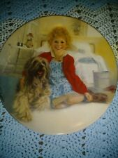 Annie And Sandy Collectible Plate, Bradford Exchange, 1982, by William Chambers