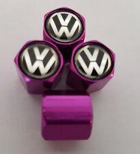 Tapones de polvo Válvula Vw Volkswagen Neumáticos De Aleación para todos los modelos púrpura T6 T5 Transporter