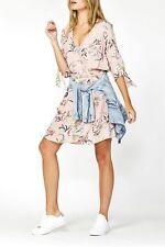 NWT DECJUBA ISLA WRAP DRESS | SZ 8, 10 & 12  | BLUSH PINK FLORAL POCKETS, S M L