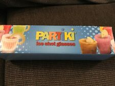 New listing New Partiki Ice Shot Glasses Set of 4 Original, Unopened Box Drinks, Soda, Jello