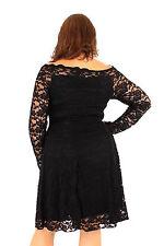 Plus Size Coco Bardot Lace Swing Dress Sizes 16 - 26