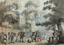 The End of the Mall Spring Gardens THOMAS ROWLANDSON Vintage Lithograph #464