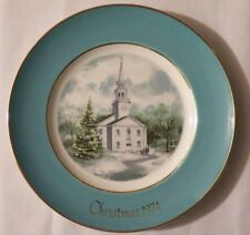 1974 Avon Christmas Collector Plate, 2nd Edition, Country Church, Enoch Wedgwood
