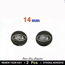 2x Replacement 14MM Car Key Sticker For Land Rover Fob Emblem Badge Radio Button