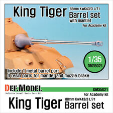 DEF. modello, DM35021, 88 mm King Tiger Canna di metallo con mantlet (per Academy), 1:35