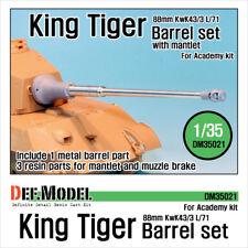 Def. Modelo Tigre Rey, DM35021, 88mm barril metálico con mantlet (para Academia), 1:35