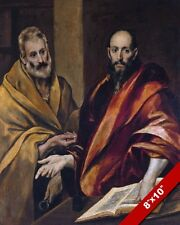 PETER & PAUL APOSTLES OF JESUS PAINTING EL GRECO BIBLE ART REAL CANVAS PRINT