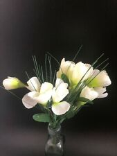 Home Decor Crocus Bunch Artificial Flowers White