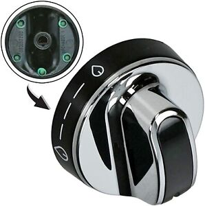NEW WORLD 444442149 Genuine Oven Cooker Hob Control Knob Switch Silver Black