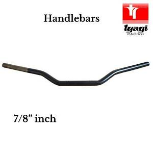 "Universal Handlebars Black Motorbike Motorcycle Bars 22mm 7/8"" inch"