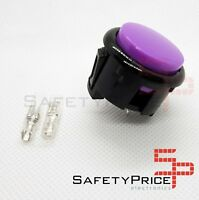 Pulsador Arcade 30mm Morado Violeta faston Jamma Push button Bartop Raspberry SP