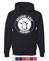 Original Goat Whisperer Hoodie Funny Animal Farm Cowboy Country Sweatshirt