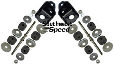 NEW 1955-57 CHEVY FRONT ENGINE MOUNTING KIT,SBC V-8,BLACK,MOTOR MOUNTS,TRI-FIVE