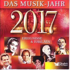 Das Musik Jahr 2017 - Ereignisse & Jubiläen  - Reader's Digest  3 CD BOX