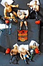 WCW Monday Nitro TNT Wrestling Ring w/ 7 wrestler action figures - FS DB
