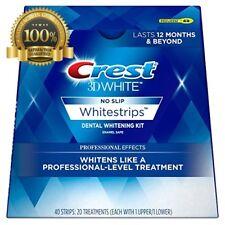 Crest 3D White Professional Effects Whitestrip Dental Kit 20 Treatment 12 Mounts