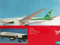 1:500 Herpa Wings 527484  Iraqi Airways Boeing 777-200LR YI-aQZ
