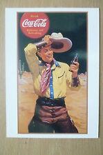 Advertising PostCard- DRINK COCA COLA DELICIOUS & REFRESHING, brand card @1991