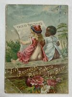 Antique Trade Card - Five Brothers Plug Tobacco - 2 Children Tale of Two Cities