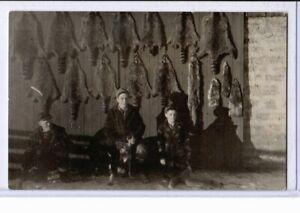 Real Photo Postcard RPPC - Hunting Hunters with Animal Skins