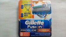 8 Gillette Fusion Proglide POWER Razor Blades 8 PACK 100% AUTHENTIC, GENUINE NEW