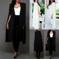 Women's Loose Long Cloak Blazer Cape Trench Cardigan Coat Outwear Poncho Jacket