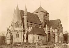 Norvège, Trondheim, cathédrale de Nidaros, Nidarosdomen Vintage albumin print