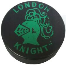LONDON KNIGHTS VINTAGE OFFICIAL HOCKEY PUCK RARE MADE IN 🇨🇿