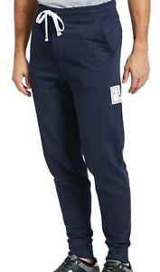 Tommy Hilfiger Mens Sleepwear Navy Blue Medium M Box Logo Fleece Jogger $59 140