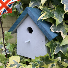 Traditional Bird/Nest Box Ideal For Blue, Coal, Marsh Tit Recycled Wood