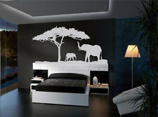African Safari Elephants vinyl wall decal