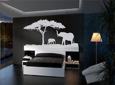 African Safari Elephants vinyl wall decal