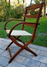 Folding wood deck chair patio Mission Adirondack art deco rustic  antique 1940'S
