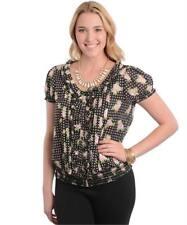 NEW..Stylish Plus Size Black & Pink Floral Blouson Style Top..Sz16/2XL