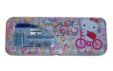 New Sanrio Hello Kitty Pink  Tin Pencil-Box + School Set Free Ship