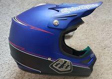 New Rare Large Troy Lee Designs SE Hot Rod Matt Blue Motocross MX Helmet