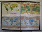 Schulwandkarte Atmosphere Der Earth Wind Sun T3 226x162 1964 Vintage World Map