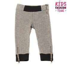 Rrp €140 Simonetta Knitted Trousers Size 6Y / 122Cm Chevron Zipped Cuffs Cropped