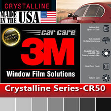 "3M Crystalline 50% VLT Automotive Car Window Tint Film Roll Size 35"" x 60"" CR50"