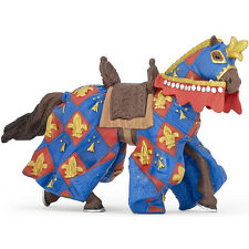 PAPO Knights Blue Fleur De Lys Draped Horse NEW