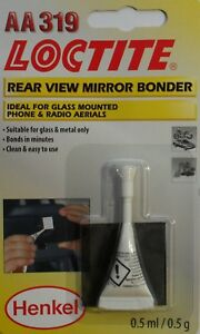 Car Rear View Driving Mirror bonder glass glue adhesive Loctite AA 319 Henkel