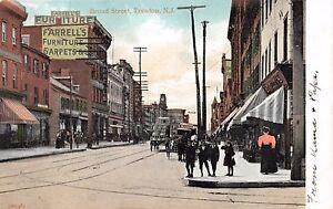 TRENTON NEW JERSEY FARRELLS STOREFRONTS~FURNITURE SIGN POSTCARD 1900s