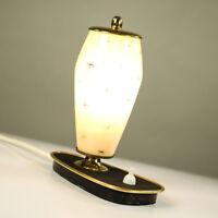 Nachttisch Lämpchen Glasschirm Messing Lese Leuchte 50er Vintage Bedside Lamp