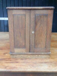 Cupboard, oak Georgian table top cupboard. Very original, antique.
